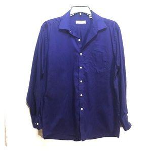 Michael Kors mens 17 royal blue shirt 17 34/35
